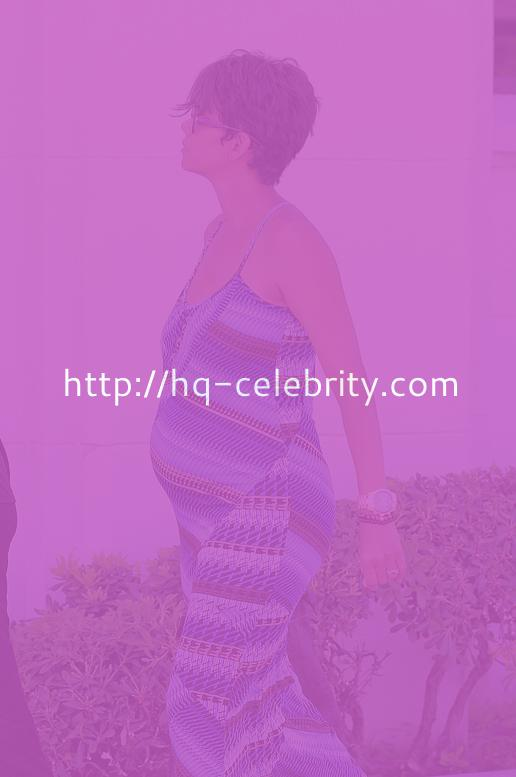 Halle Berry Is Very Pregnant