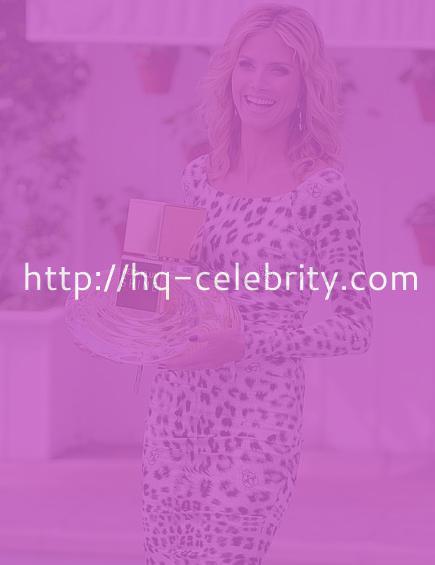 Heidi Klum promotes her fragrance