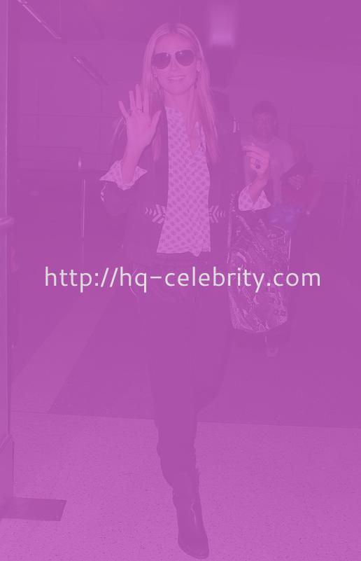 Heidi Klum Looks Pretty At The Airport