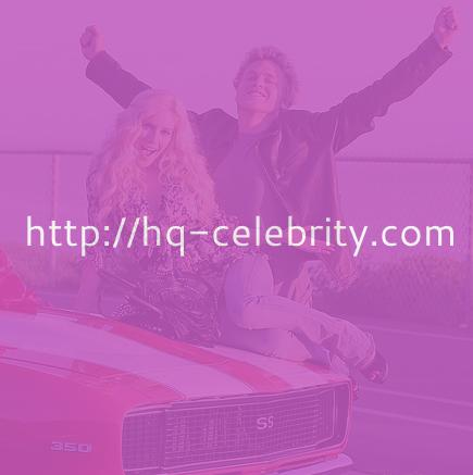 Heidi Montag and the pretty red car