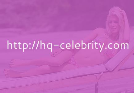 Heidi Montag in her tiny pink bikini