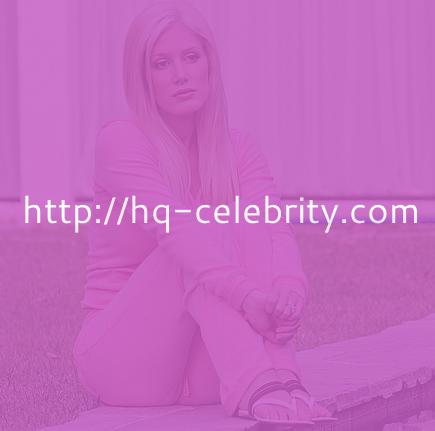 Heidi Montag poses in pink