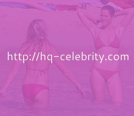 Helen Flanagan at play in red and white bikini
