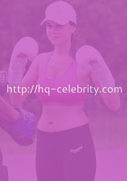 Imogen Thomas works out in London