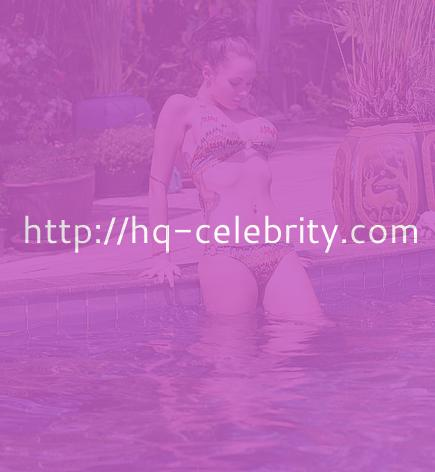 Jessica Jane Clement goes for a dip