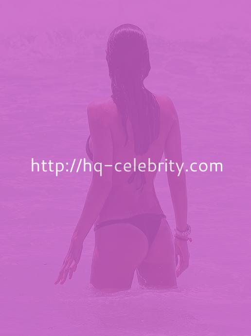 Julia Pereira Hits The Beach In A Black Bikini