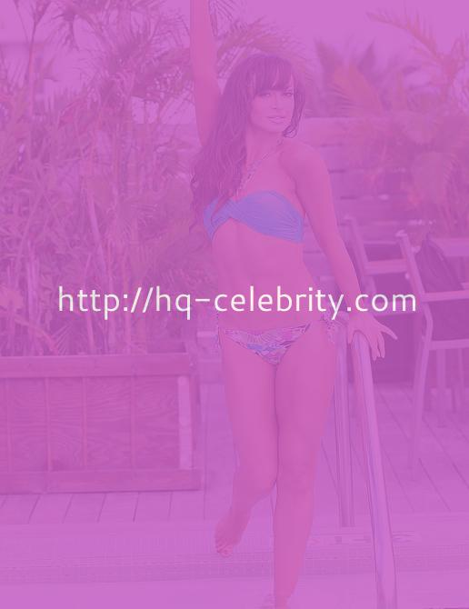 Karina Smirnoff poses poolside at the Catalina Hotel in Miami Beach.