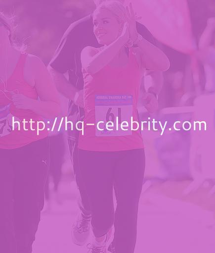 Katherine Jenkins in her marathon gear