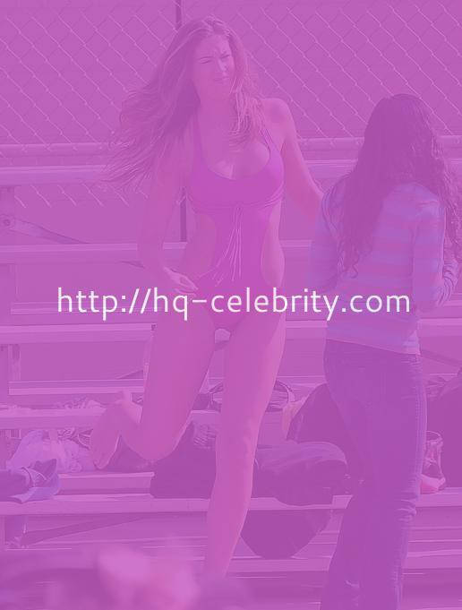 Katherine Webb On The Set Of Yet Another Pointless Celebrity Reality Show