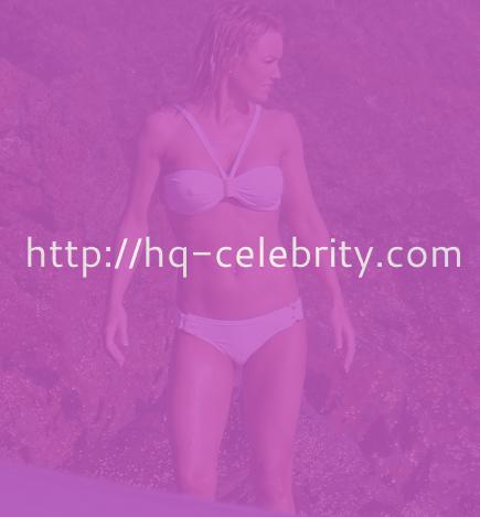 Hot photos of Kelly Carlson in white bikini