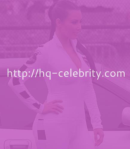 Kim Kardashian in skin tight white jumpsuit