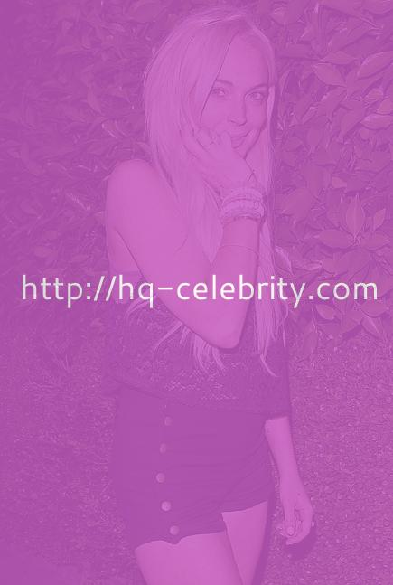 Lindsay Lohan at Paris Hiltons party