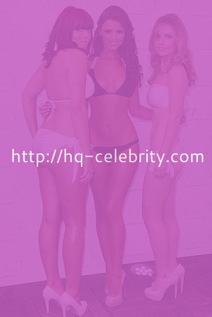 Lucy Mecklenburgh poses in a bikini at the launch of her swimwear line.