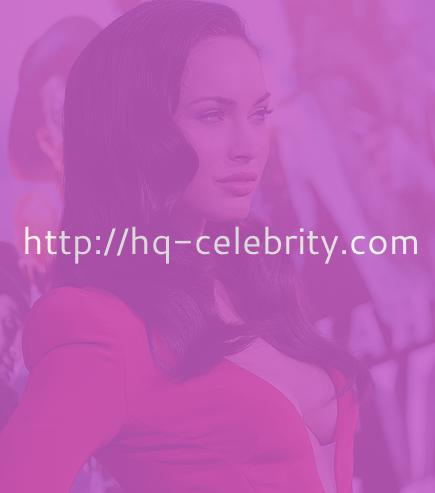 Megan Fox in revealing red dress