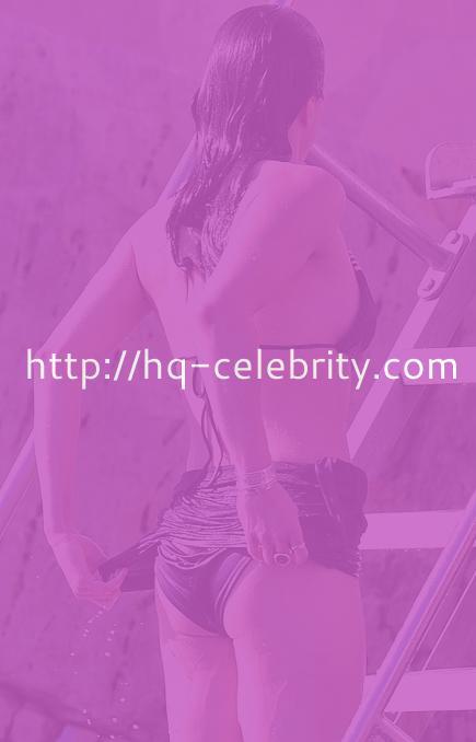 Michelle Rodriguez rocks a black bikini