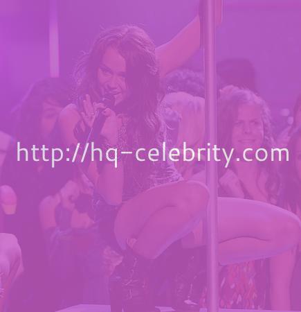 Miley Cyrus as a pole dancer