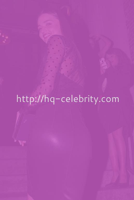 Miranda Kerr All In Black In New York