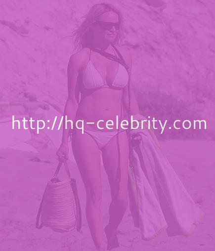 Pamela Anderson rocked her low bikini bottom