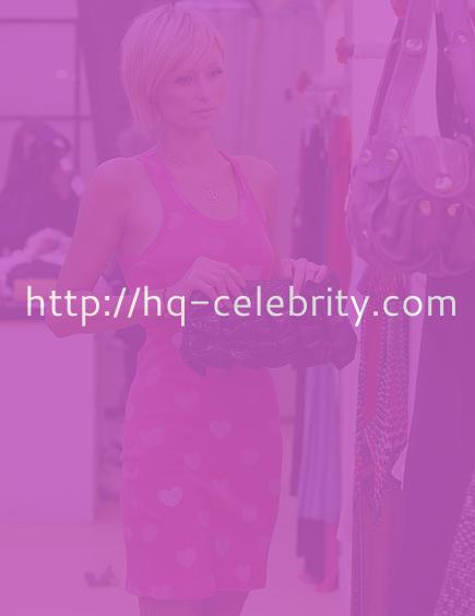 Paris Hilton shops for pretty dresses