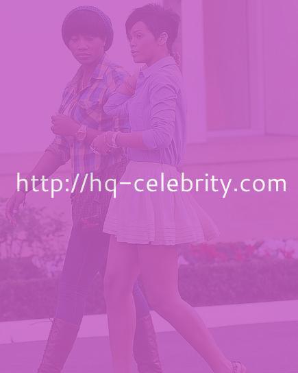 Rihanna and her itsy bitsy skirt