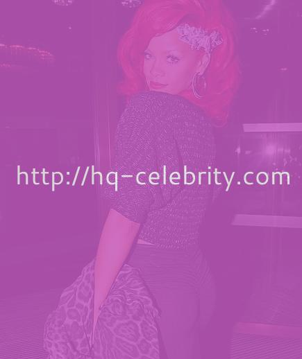 Rihanna and her fire engine red hair
