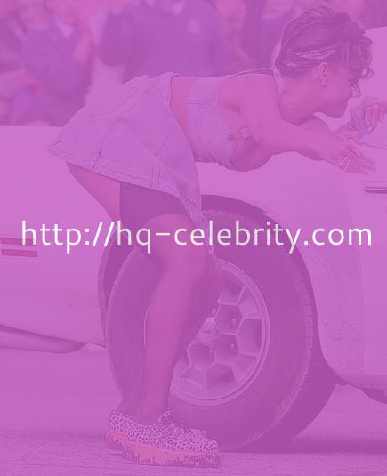 Rihanna upskirt shot from a video set