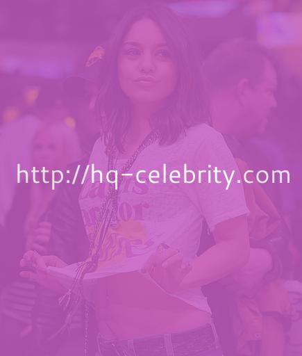Vanessa Hudgens bares her belly for the Lakers