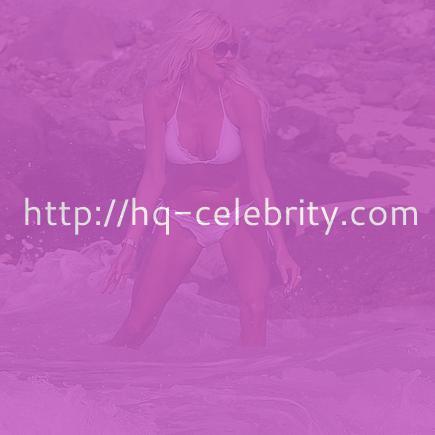 Victoria Silvstedt in sexy white bikini