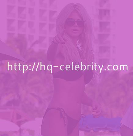 Sexy Victoria Silvstedt in a black bikini
