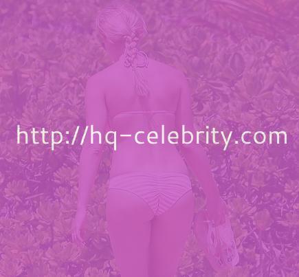 Vienna Girardi in barely there pink bikini