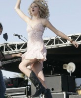 Taylor Swift Sings and Swings upskirt