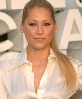 Anna Kournikova wearing white dress