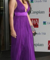 Elizabeth Hurley in purple