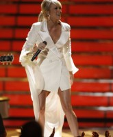 Carrie Underwood in white dress