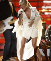Carrie Underwood performing on-stage