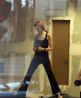 Marcia Cross in the gym