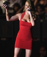 Mariah Careys red Mini Dress in Japan
