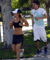 Ashley Tisdale jogging