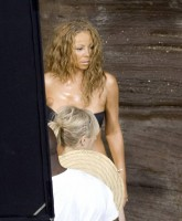 Mariah Carey filming Music Video