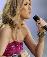 Celine Dion perfoming on-stage