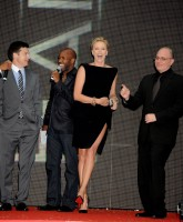 Charlize Theron & Will Smith in Hancock premiere