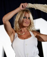 Pamela Anderson at celebrity auction