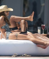 Cheryl Cole & Ashley Cole by the pool