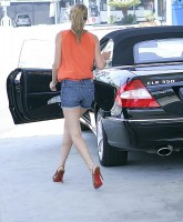 Lauren Conrad in shorts and heels
