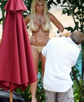 Gemma Atkinson shooting her new calendar in Asia