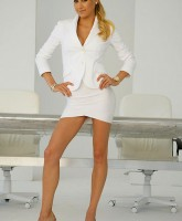 Anna Kournikova in white
