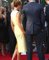 Victoria Beckham in elegant yellow