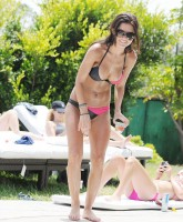 Audrina Patridges bi colored bikini