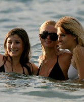 Paris Hilton playing Babewatch in Hawaii