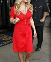 Jessica Simpson in red